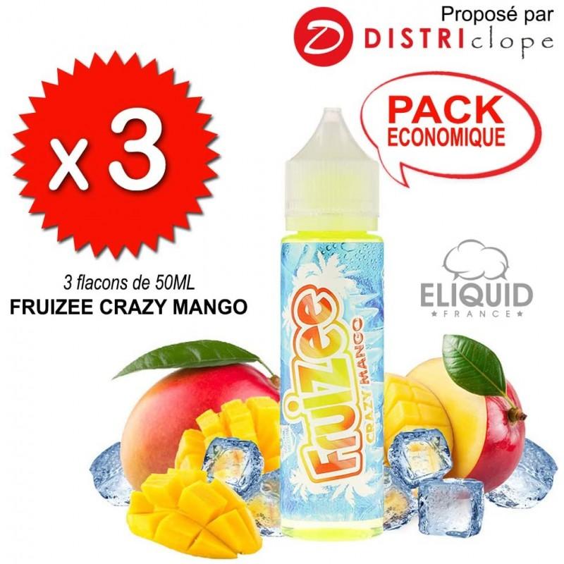 X3 Fruizee Crazy Mango 50ml - Eliquid France