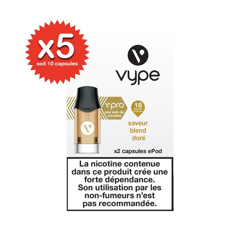 Lot de 5x2 capsules Blend Doré ePod vPro - Vype