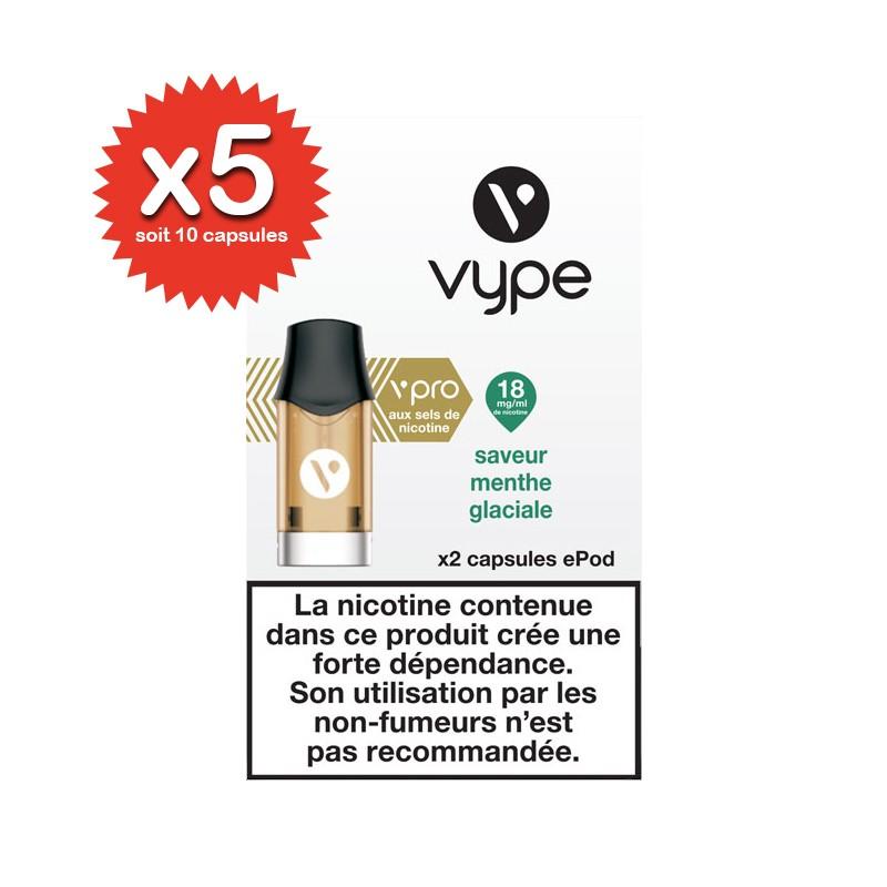 Lot de 5x2 capsules Menthe Glaciale ePod vPro - Vype