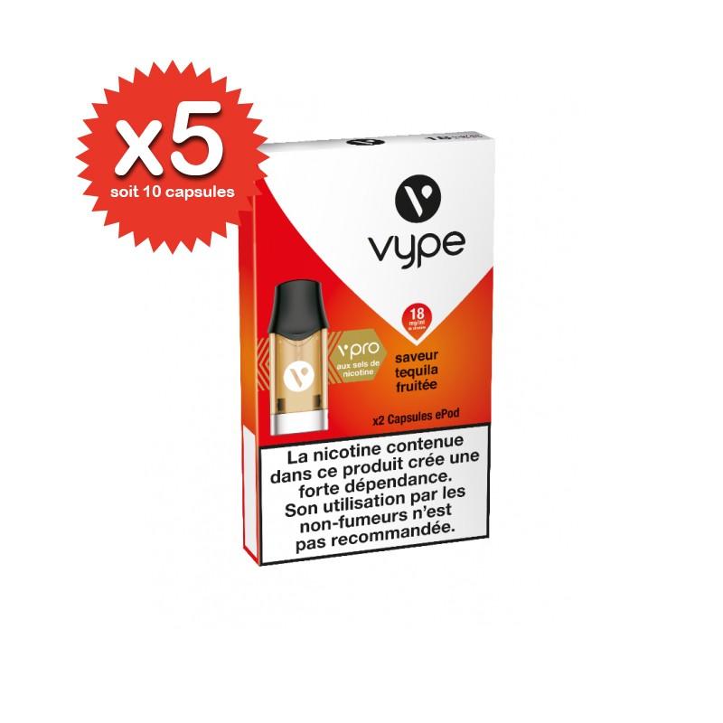 Lot de 5x2 capsules Tequila Fruité ePod vPro - Vype