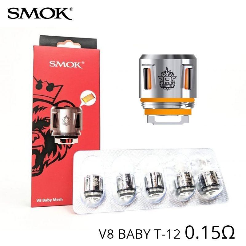 Résistances TFV8 Baby T-12 Led - Smok
