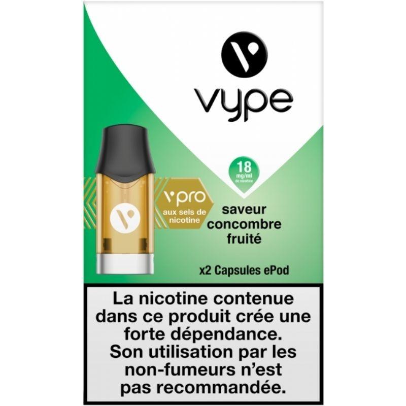 Concombre Fruité vPro 18mg ePod - Vype