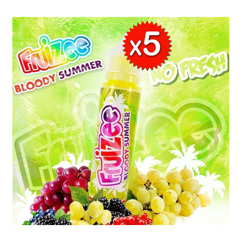 x5 Fruizee Bloody Summer No Fresh 50ml - Eliquid France