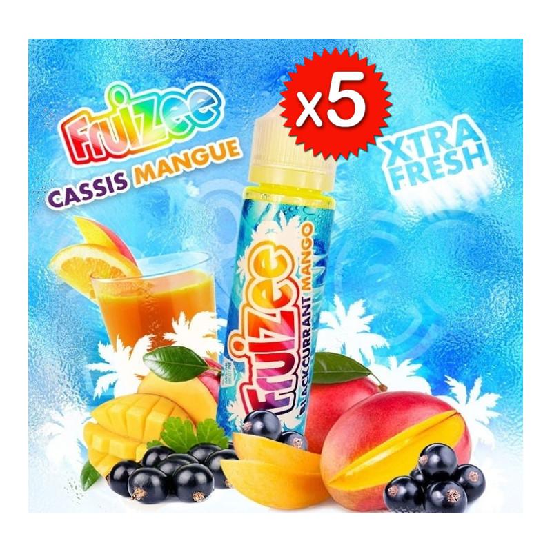 x5 Fruizee Cassis Mangue 50ml - Eliquid France