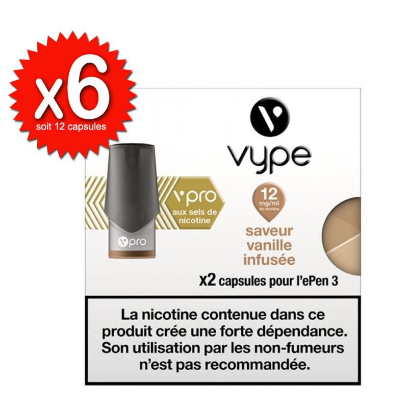 Lot de 6x2 capsules Vanille infusée vPro ePen3 - Vype