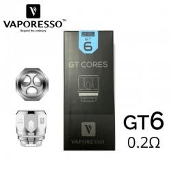 Résistances GT6 cores 0.2ohm - Vaporesso