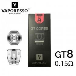 Résistances GT8 cores 0.15ohm - Vaporesso